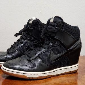 Nike Dunk Sky High Wedge Sneakers 579763-001
